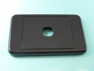 Photo of 1 HOLE CLIPSL BLACK PLATE