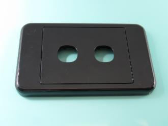 Photo of 2 HOLE CLIPSL BLACK PLATE