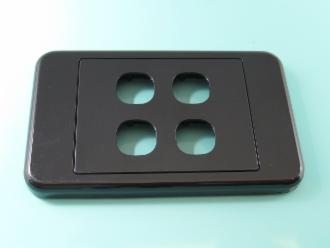 Photo of 4 HOLE CLIPSL BLACK PLATE