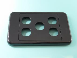 Photo of 5 HOLE CLIPSL BLACK PLATE