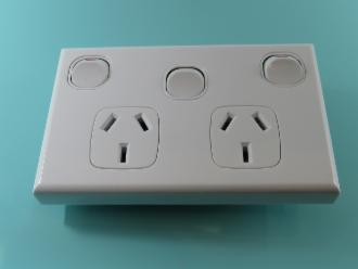 Photo of 2 OUTLET GPO + LIGHT SWITCH