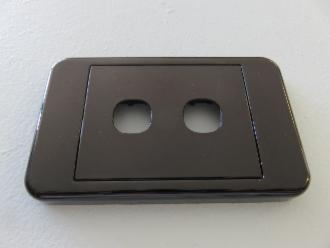 Photo of BLACK 1 HOLE ARCHITRAVE PLATE