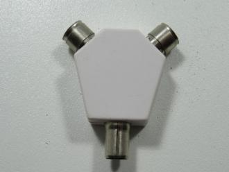 Photo of 2 WAY PLASTIC Y SPLITTER